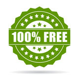 100 free icon. On white background Royalty Free Stock Photos