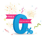 Free Installment sale concept. Illustration of free Installment sale concept Royalty Free Stock Images