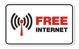 Free internet rectangle sign Royalty Free Stock Image