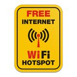 Free internet wifi hotspot sign Stock Photo