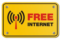 Free internet yellow sign - rectangle sign Royalty Free Stock Photography
