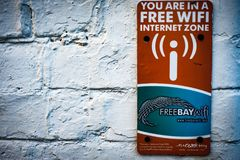 Free Internet Zone Information Sign Stock Image