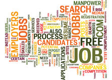Free Job Site Text Background Word Cloud Concept royalty free illustration