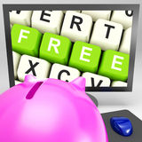 Free Keys On Monitor Shows Free Trial Royalty Free Stock Photo