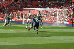 Free kick by Bastos Stock Images