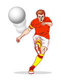 Free kick concept. Concept of a free kick during a football (soccer)  game Royalty Free Stock Photos