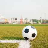 Free kicked. In Football Corner Royalty Free Stock Images