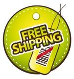 free label shipping Στοκ Φωτογραφίες