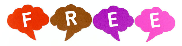Free ,Label ,Speech bubbles Royalty Free Stock Image