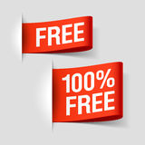 Free labels. Free and 100% Free labels illustration Royalty Free Stock Image