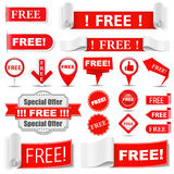 Free Labels. Set of different free labels Royalty Free Stock Photography