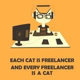 Free lance del gatto Immagine Stock