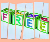 Free Letters Mean Complimentary And No Charge Royalty Free Stock Photo
