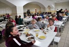 Free meals at school_4 royalty free stock photos