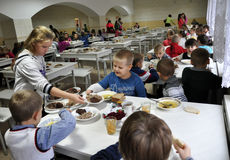 Free meals at school_5 Royalty Free Stock Photography