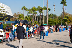 Free Medical Clinic In Los Angeles At 8:30 a.m. Royalty Free Stock Photography