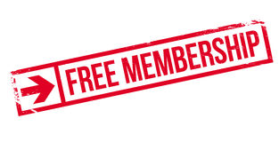 Free membership stamp Royalty Free Stock Image