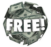 Free Money Ball Sphere Word Bonus Special Offer Deal Stock Photo
