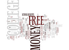 Free Money For College Text Background  Word Cloud Concept Royalty Free Stock Photos
