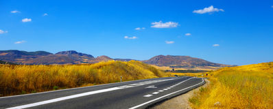 Free motorway in Andalusia. Royalty Free Stock Photos