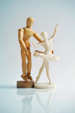Free movement. Dummy and ballerina Stock Images