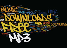 Free Mp Downloads Word Cloud Concept royalty free illustration