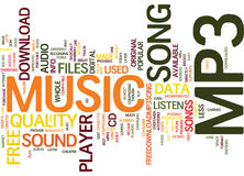 Free Mp3 Player Song Text Background  Word Cloud Concept Royalty Free Stock Images