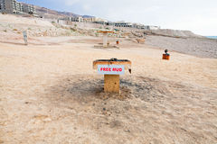 Free mud on coast of Dead Sea Stock Photos