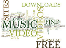 Free Music Video Downloads Text Background Word Cloud Concept Royalty Free Stock Photo