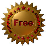 Free Newsletter (Golden Seal) Stock Photography