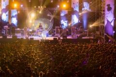 Free night live concert slight motion blur Stock Photos