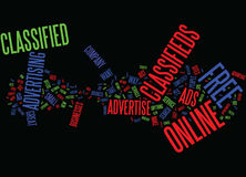 Free Online Classifieds Text Background  Word Cloud Concept. FREE ONLINE CLASSIFIEDS Text Background Word Cloud Concept Stock Image