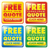 Free Online Quote Button Icon. Multiple color scheme web site buttons for links to free instant online price quotes. CLIPPING PATHS included