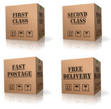 Free order shipping cardboard box delivery stock photos