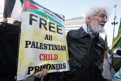 `Free Palestinian Child Prisoners` solidarity protest Royalty Free Stock Image