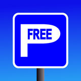 Free parking sign Stock Image