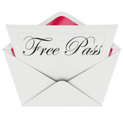 Free Pass Invitation Card Envelope Open Mail Royalty Free Stock Image