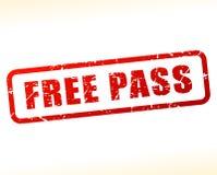 Free pass text buffered Stock Image