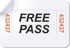 Free pass ticket Royalty Free Stock Photography