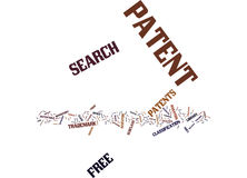 Free Patent Search Word Cloud Concept Royalty Free Stock Photography