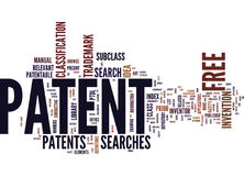 Free Patent Text Background  Word Cloud Concept Royalty Free Stock Photos