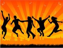 Free people. Vector illustration , jpg + eps Royalty Free Stock Photos