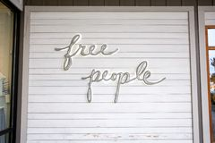 Free People store sign royalty free stock image