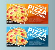 Free Pizza Voucher Templates royalty free illustration