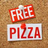 Free Pizza! Stock Photography