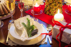 Free place at the Christmas table Royalty Free Stock Photo