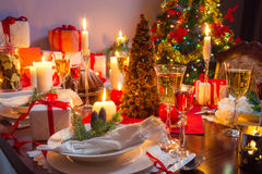 Free place at the Christmas table Royalty Free Stock Photography