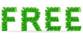 Free a plié le signe de papier illustration libre de droits