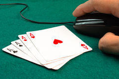 Free poker games online Stock Photo