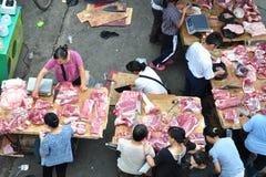 Free pork market Stock Image
